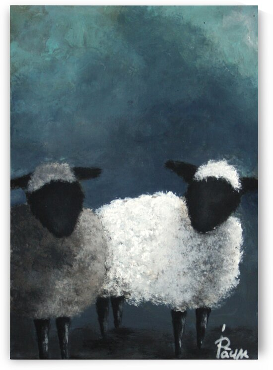 2 Little sheeps by Iulia Paun ART Gallery