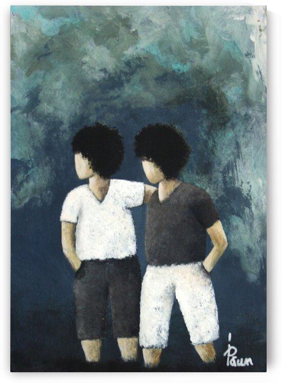 2 Little boys by Iulia Paun ART Gallery