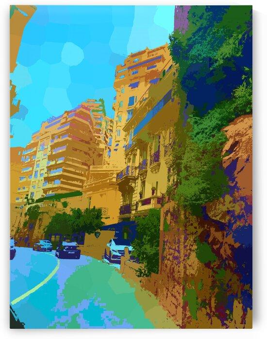Monte Carlo Monaco Casino in Vintage vibes by Nisuris Art