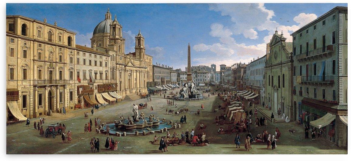 Piazza Navona by Caspar van Wittel