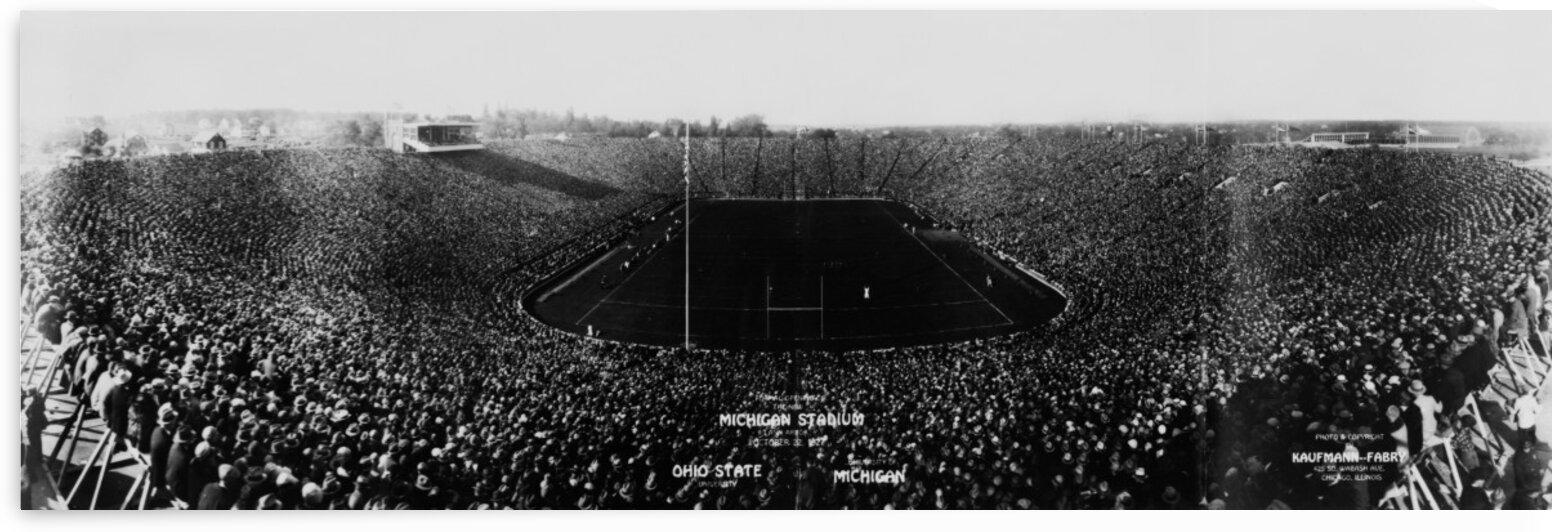 1927 michigan stadium dedication game photo by Row One Brand