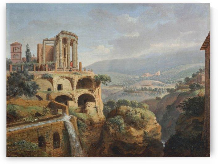 Citadel on the hill by Caspar van Wittel