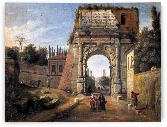 View of the Arch of Titus by Caspar van Wittel