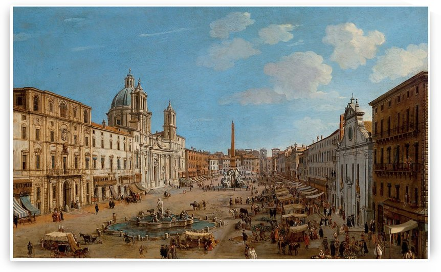 The Piazza Navona by Caspar van Wittel