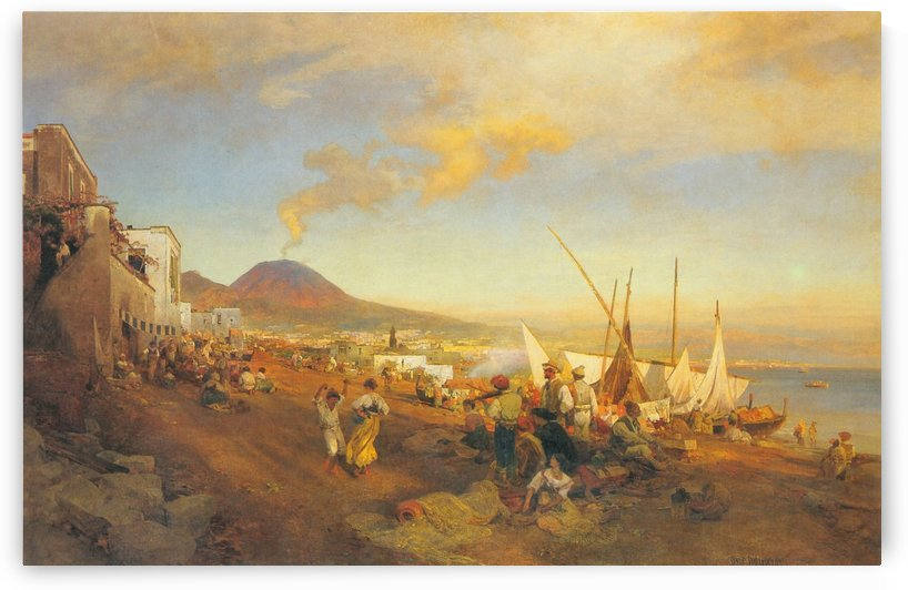 View of Naples by Caspar van Wittel