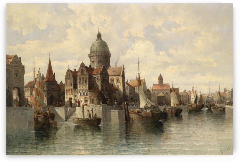 Siegen Blick auf Amsterdam by August von Siegen