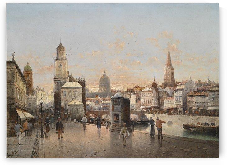 Stadtansicht by August von Siegen