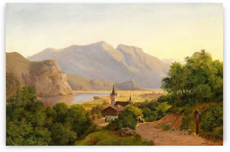 Landscape of a lost village by August von Siegen