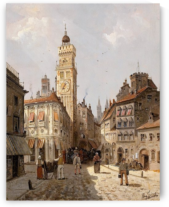 In the square by August von Siegen
