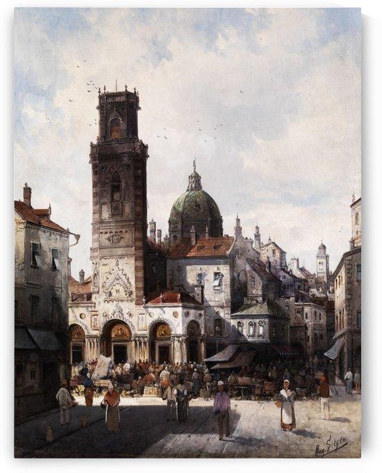 Italienische Stadtansicht by August von Siegen