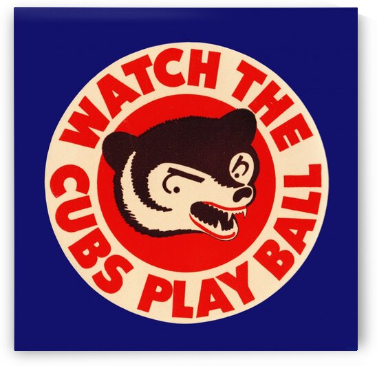 1941 chicago cubs watch the cubs play ball art print by Row One Brand