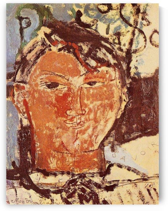 Modigliani - Portrait of Pablo Picasso by Modigliani