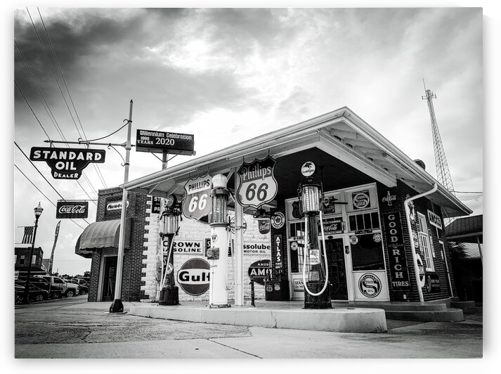 Vintage Gas Station by Javier Roa