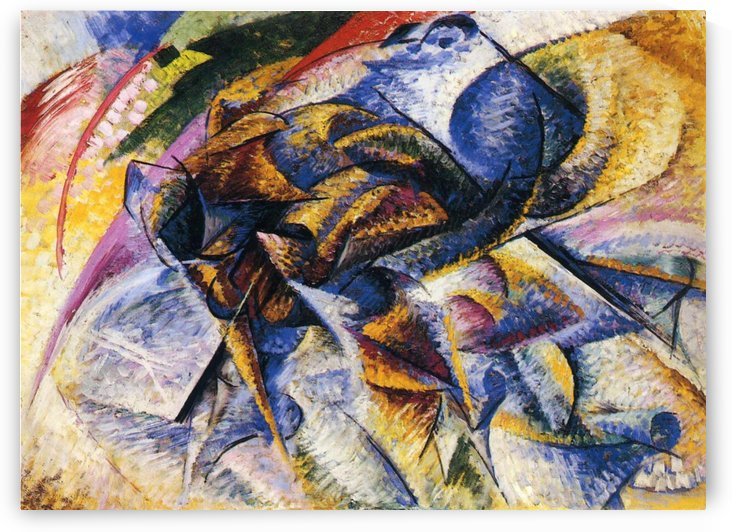 Dynamism of a Cyclist by Umberto Boccioni