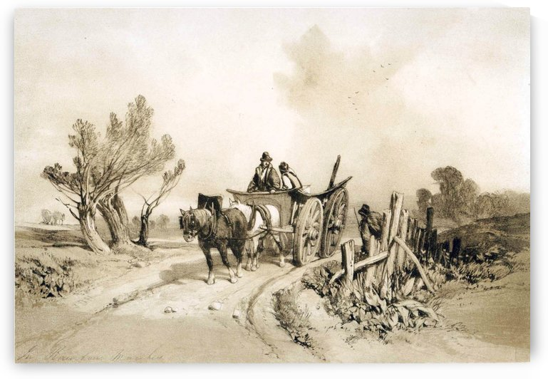 In Barnham Marshes by James Duffield Harding