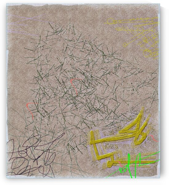 Scrawled Incantation Eroded by Floodwaters by Ed Purchla