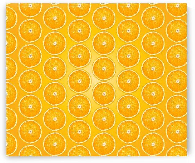 Juicy Fruity Orange Pattern by rizu_designs