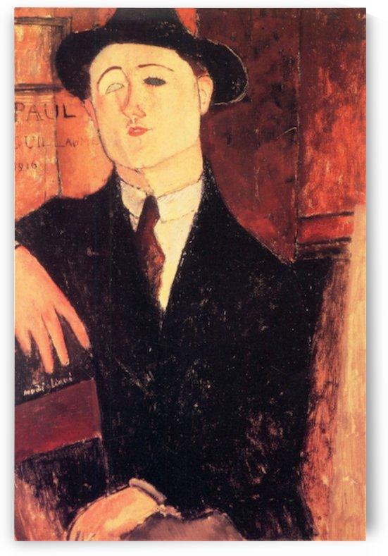 Modigliani - Portrait of Paul Guillaume -2- by Modigliani