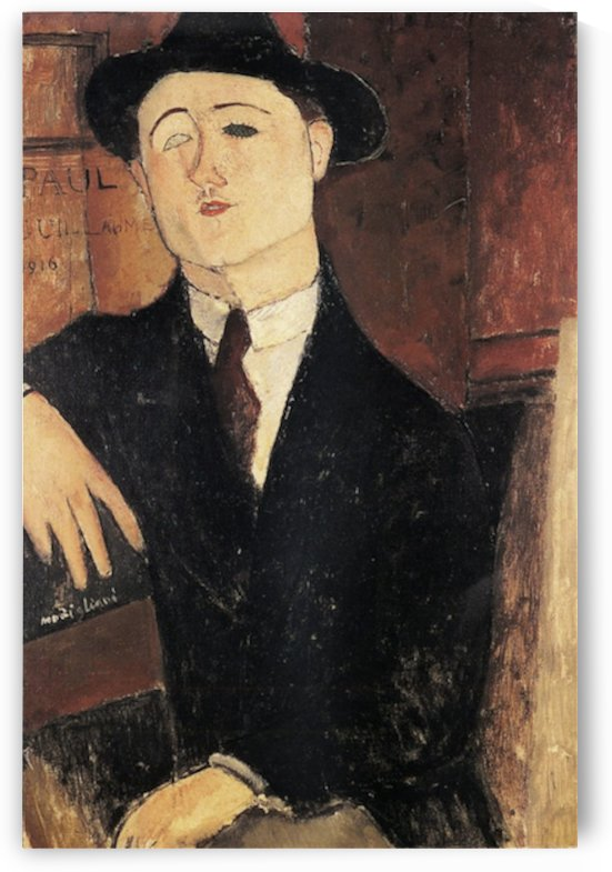 Modigliani - Portrait of Paul Guillaume -3- by Modigliani