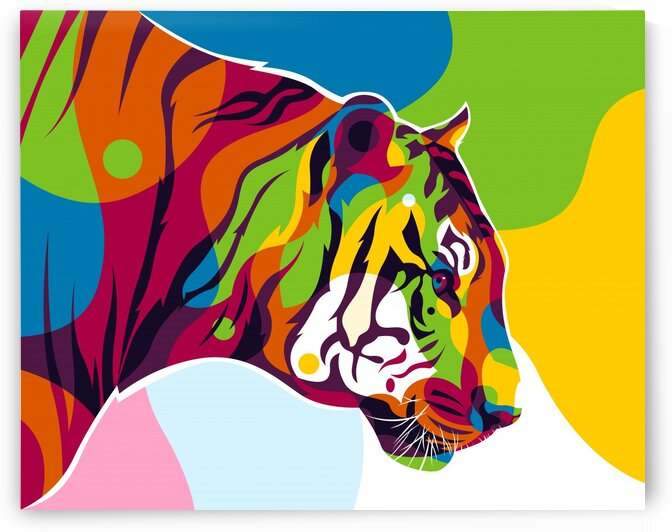 The Colorful King Tiger Inside Pop Art Style by wpaprint
