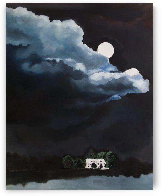 Landscape with Moon by Judit Mráz