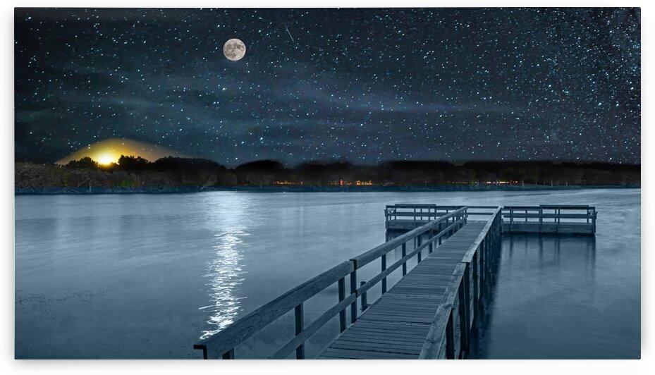 Moon over Island Lake by James Radford