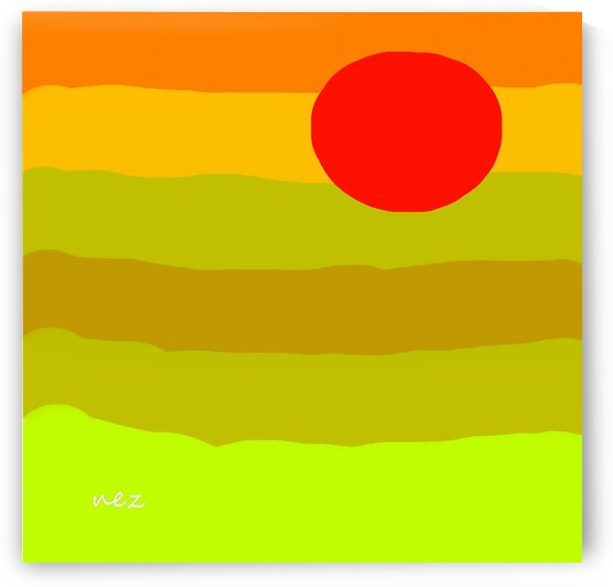 Red Sun by Efrain Montanez