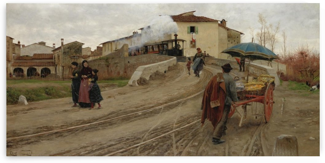 A glimpse of the village life by Adolfo Tommasi