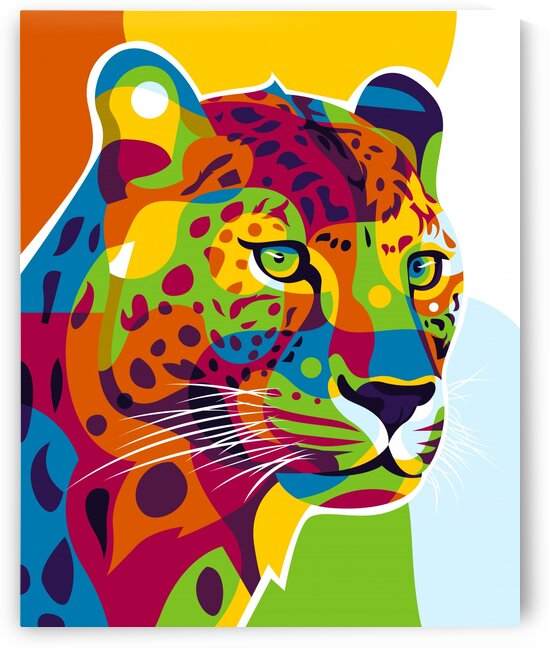 The Colorful Leopard by wpaprint