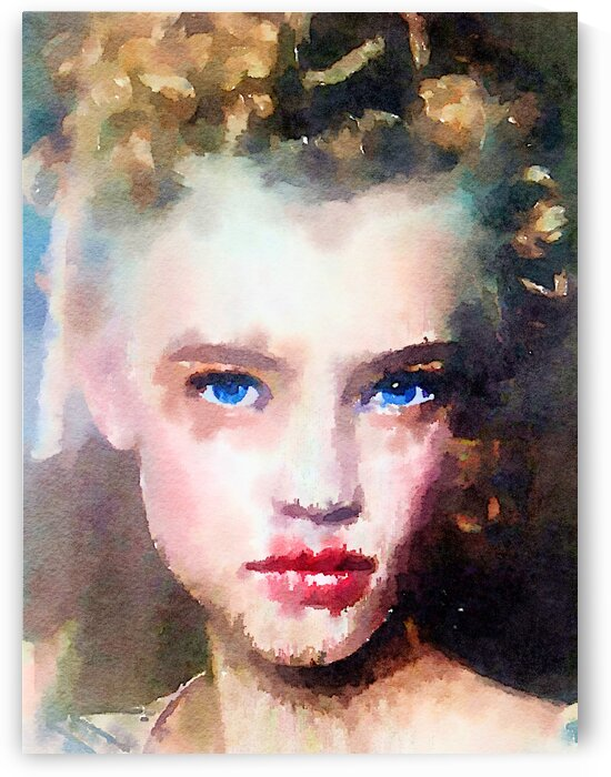 a girl with the blue eyes by Kath Sapeha