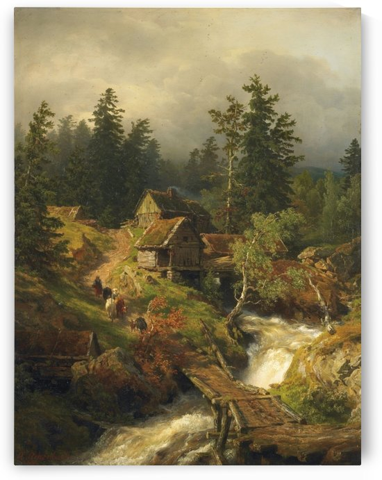 Mountain Mill by Andreas Achenbach