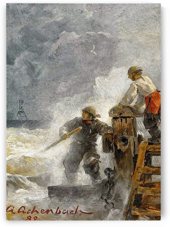Stormy North Sea by Andreas Achenbach