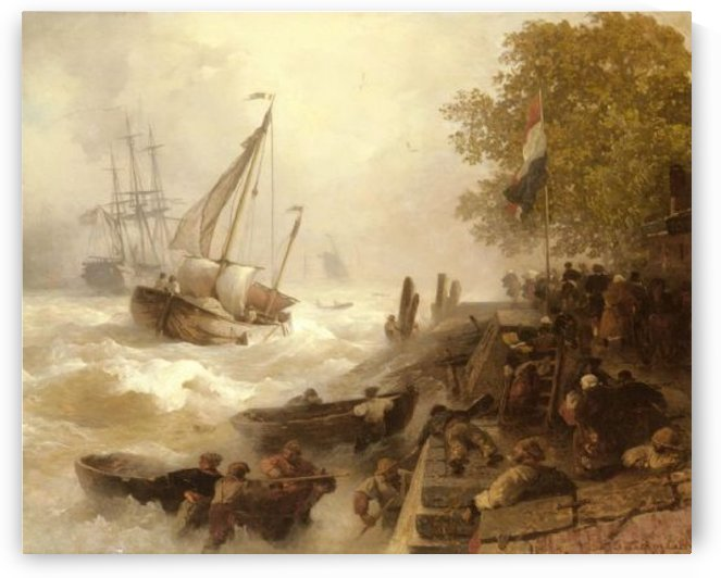 Rage of the sea by Andreas Achenbach