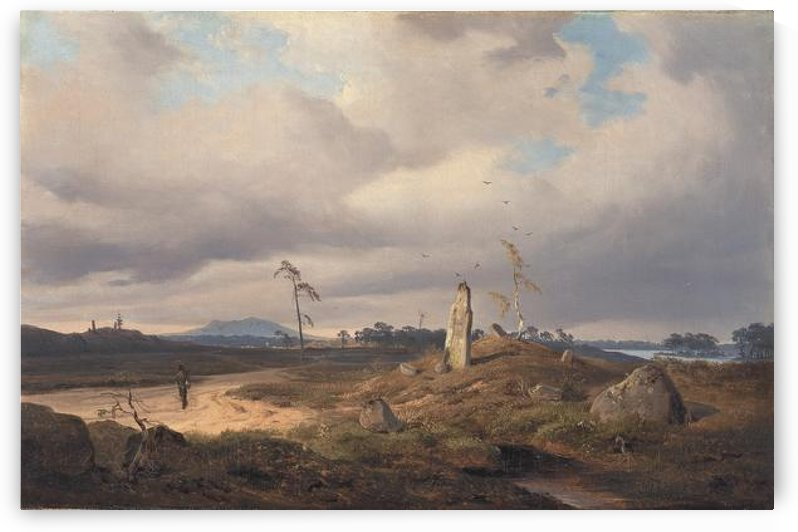 Rune stone large by Andreas Achenbach