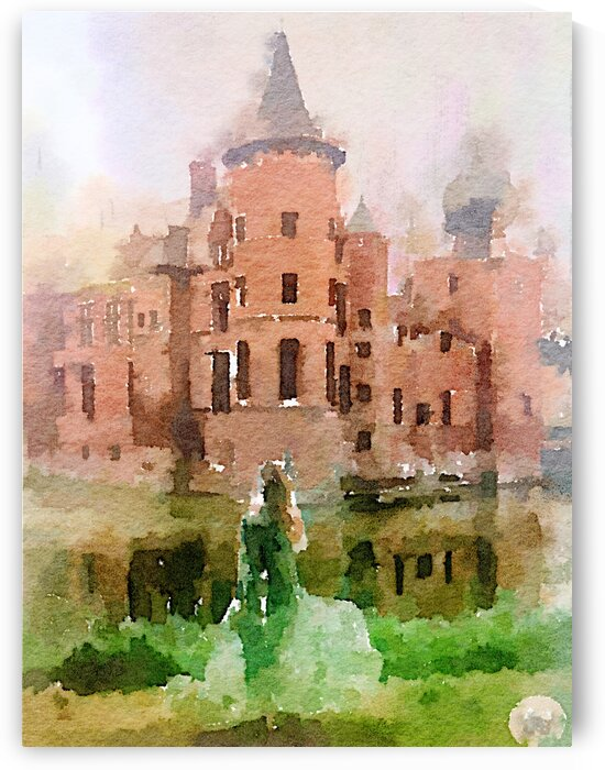 Castle and a green ghost by Kath Sapeha
