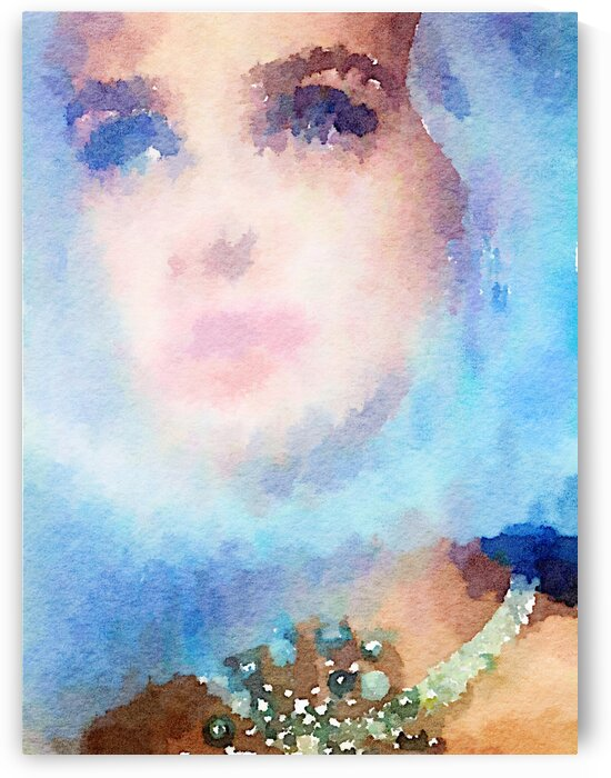 Leila and a blue veil by Kath Sapeha
