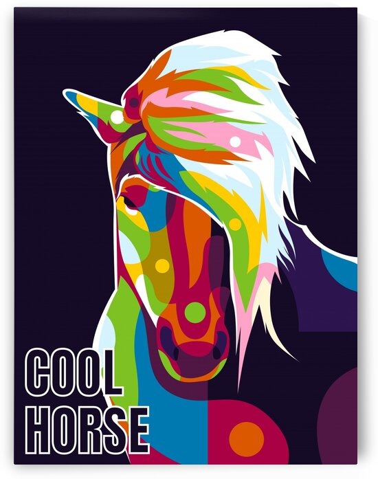 The Colorful Cool Horse Pop Art Style by wpaprint