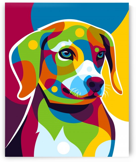 The Colorful Little Puppy Pop Art Style by wpaprint