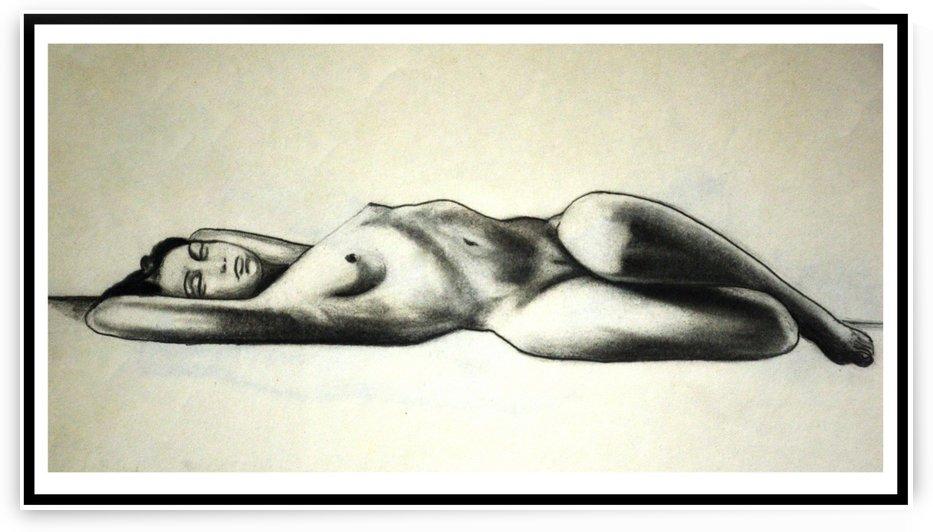 Female Nude on Floor by Dayalan Oviyan