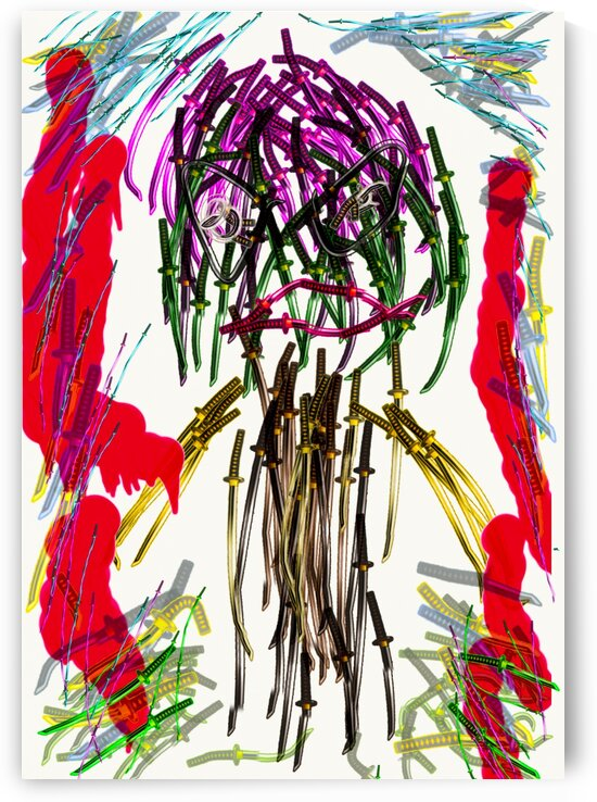 Samurai Art by Punk Art Aoi