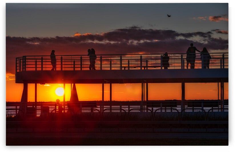 Coucher de  soleil sur Rimouski by Glenn Albert