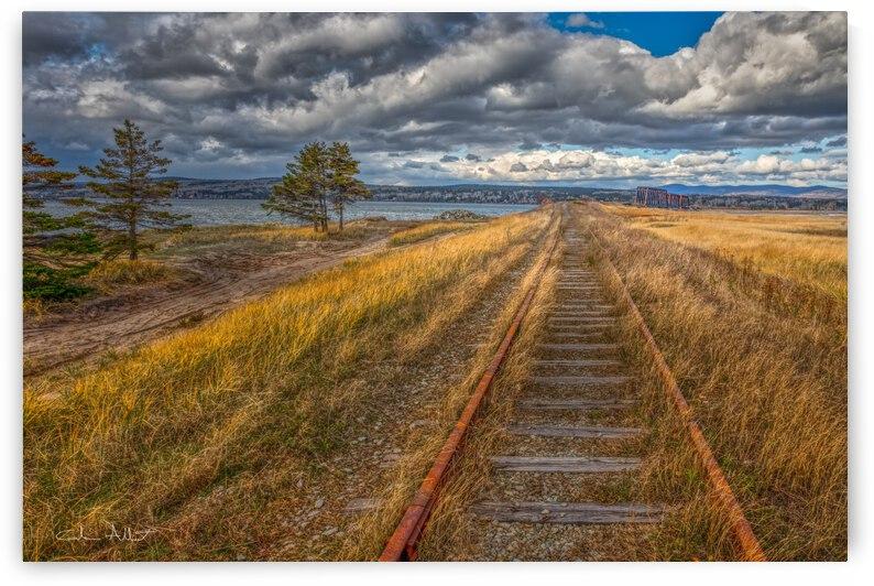 Voie ferree sur la Pointe de Douglastown by Glenn Albert