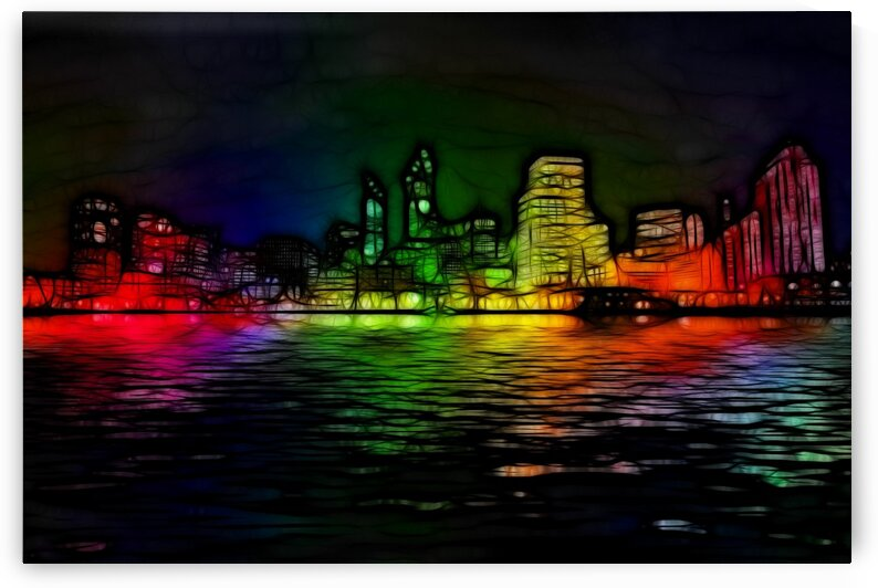 Neon Skyline by Angel