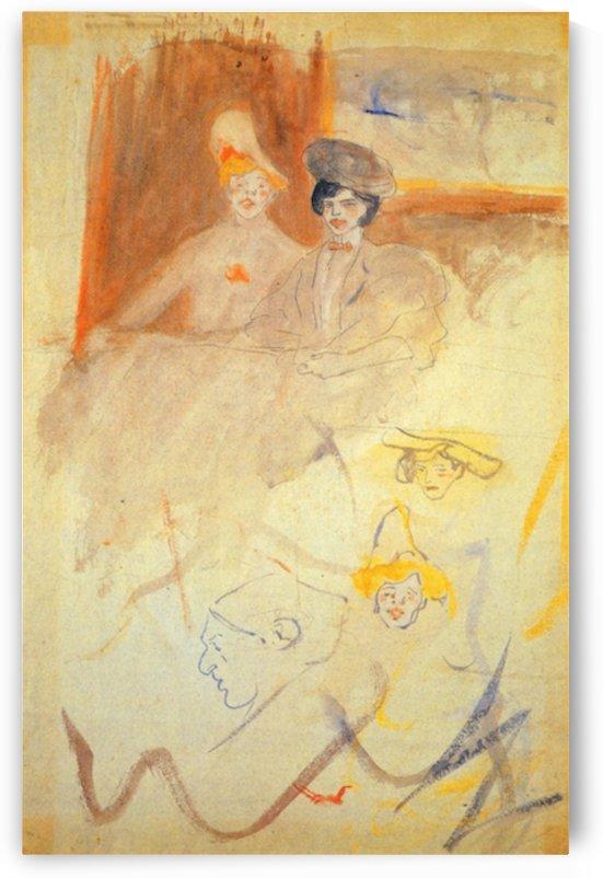 Modigliani - Study of three women by Modigliani