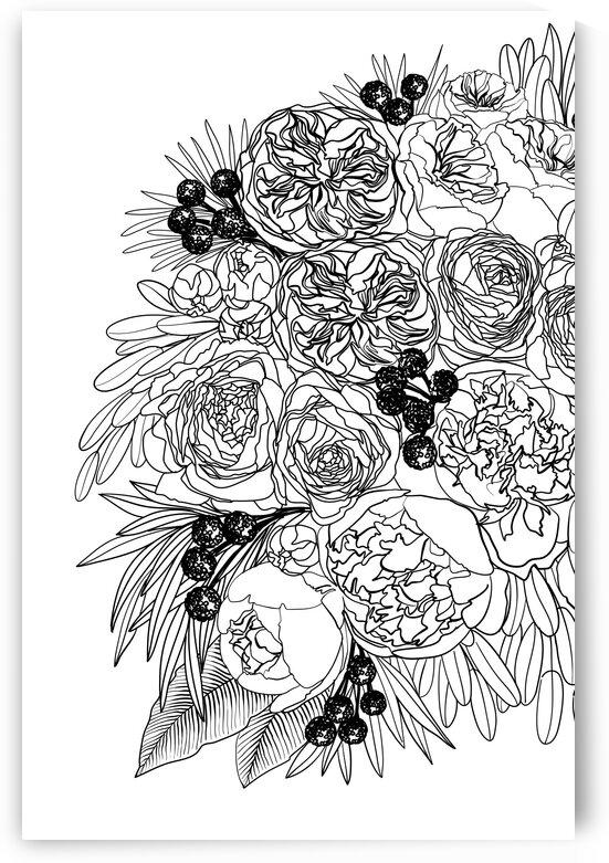 Rekkafloralbouquetlineart 3  by blursbyai