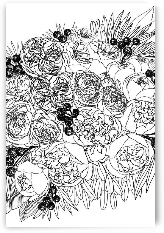 Rekkafloralbouquetlineart 2  by blursbyai
