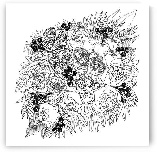 Rekkafloralbouquetlineart 1  by blursbyai
