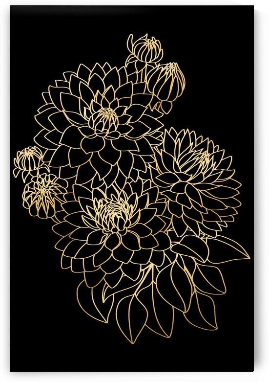 Paceyfloralbouquetblackandgold by blursbyai