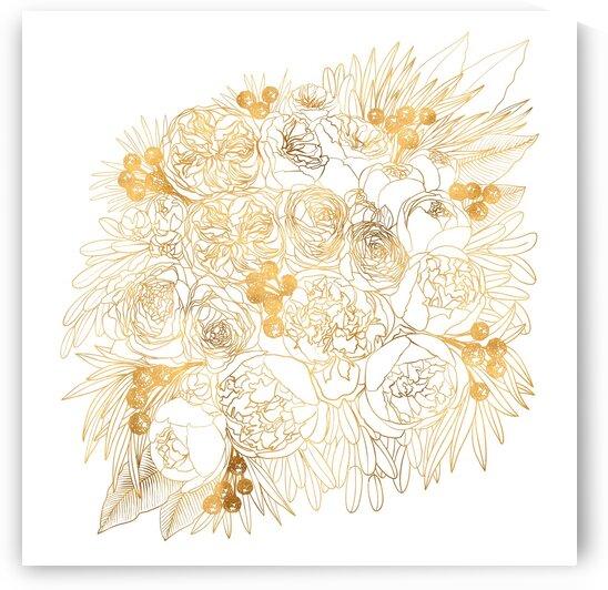 Rekkafloralbouquetingoldoutline by blursbyai