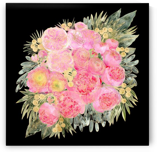 Rekkawatercolorfloralbouquetinpinkandblack 1  by blursbyai